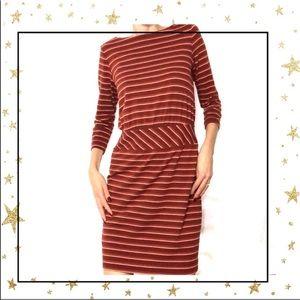 LL.Bean Signature Striped casual midi dress (C5)
